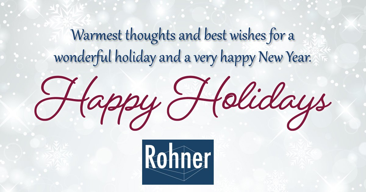 Happy Holidays from Rohner
