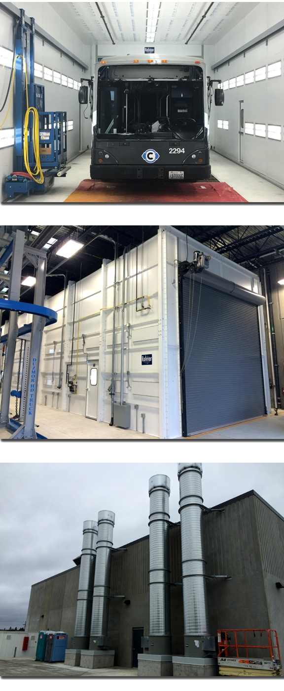 Spray Booth For Transit Facility
