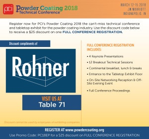 Powder Coating 2018 Technical Conference