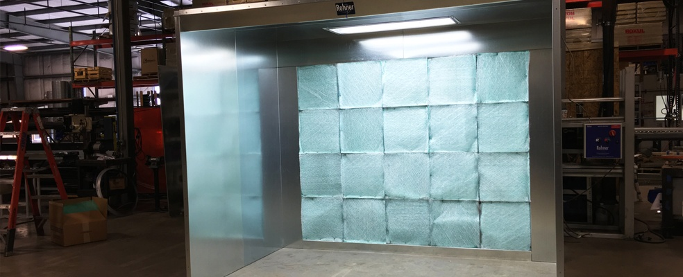 Open Face Spray Booths