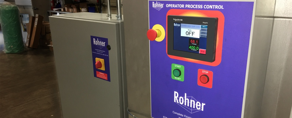 Rohner Operator Process Controls for Spray Booths