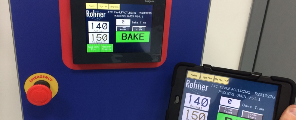 Rohner Operator Process Controls for Ovens