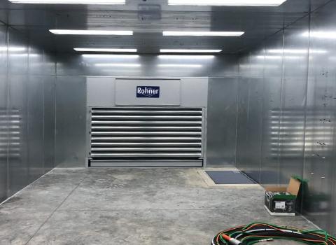 Media Blasting Booth