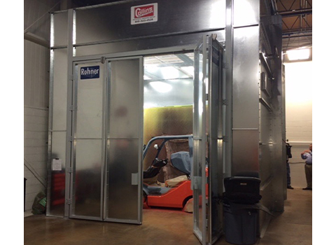 Modified Cross Draft Spray Booth